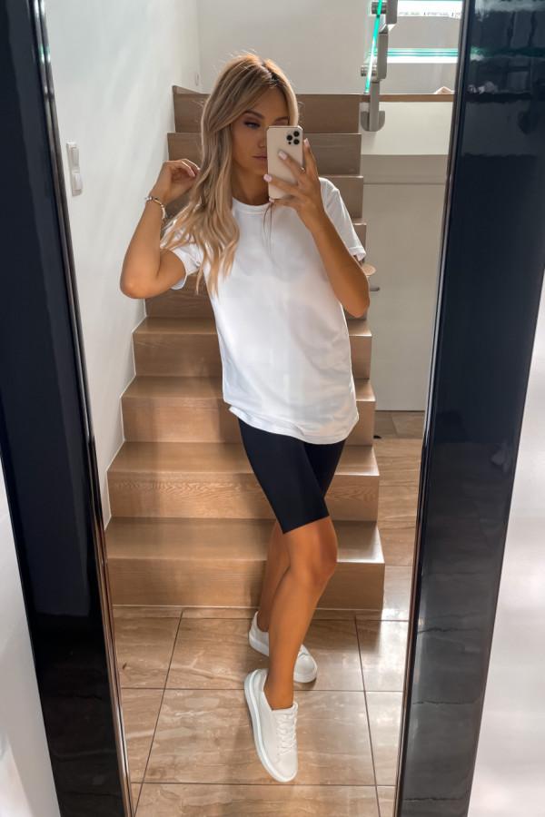 T-shirt biały Long 1