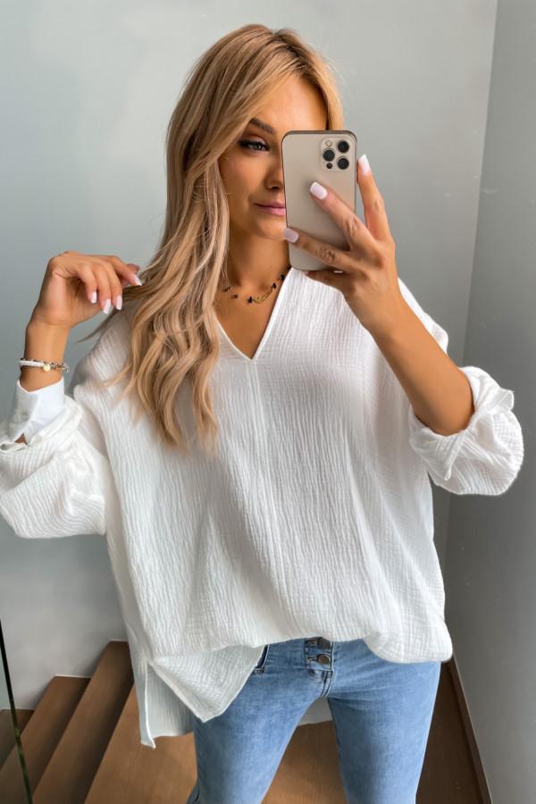 Koszula muślinowa biała oversize