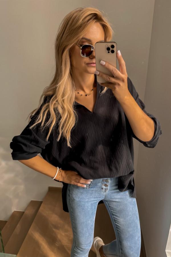 Koszula muślinowa czarna oversize 1