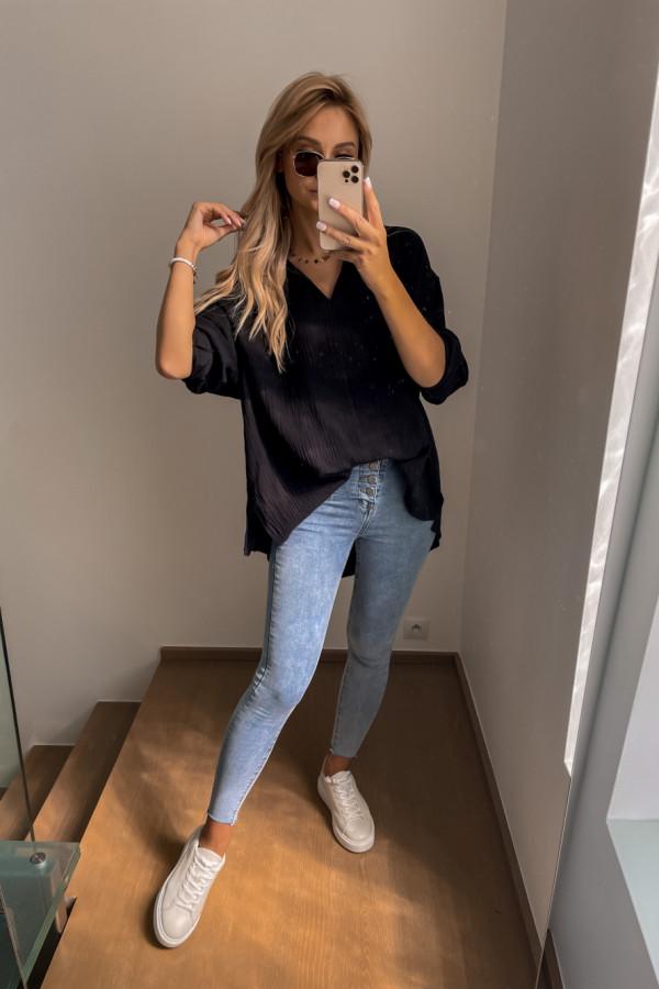 Koszula muślinowa czarna oversize 6