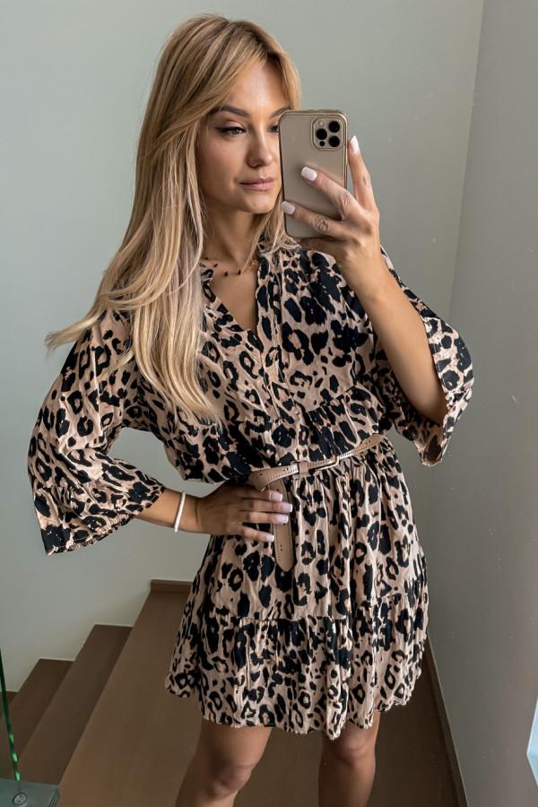 Sukienka Kama w panterkę oversize