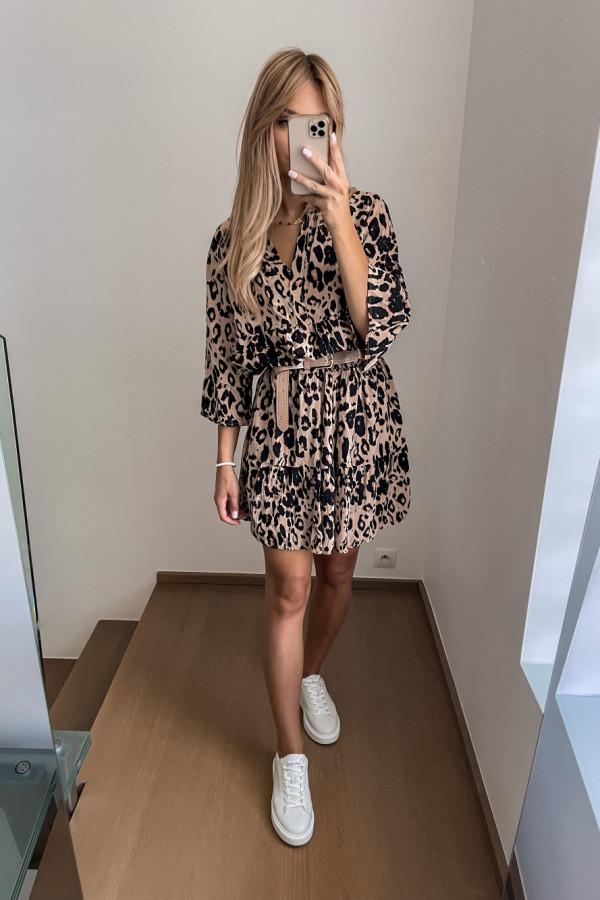 Sukienka Kama w panterkę oversize 1