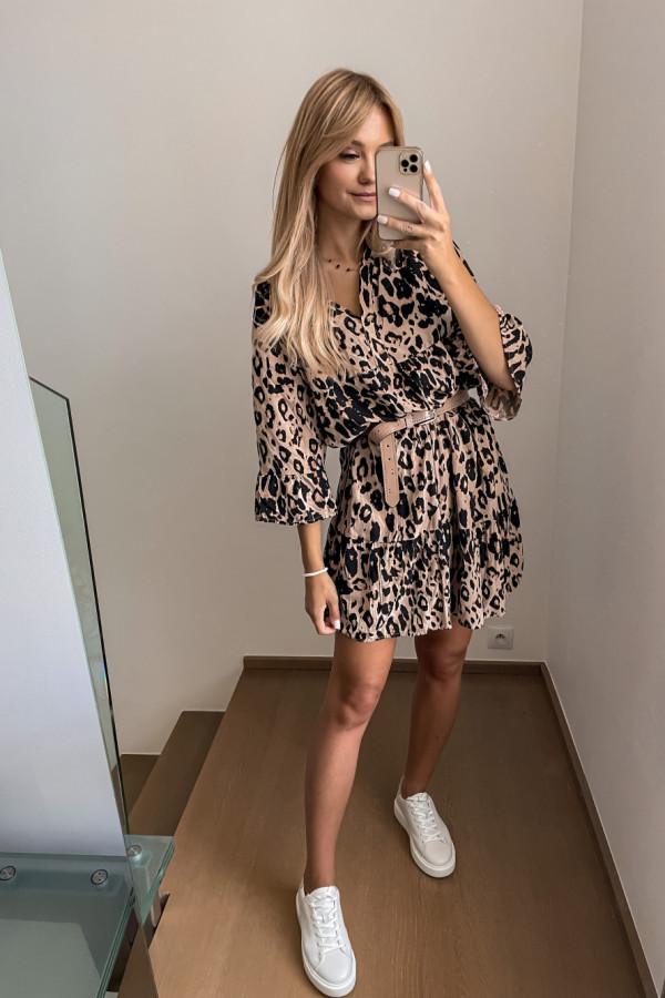 Sukienka Kama w panterkę oversize 5