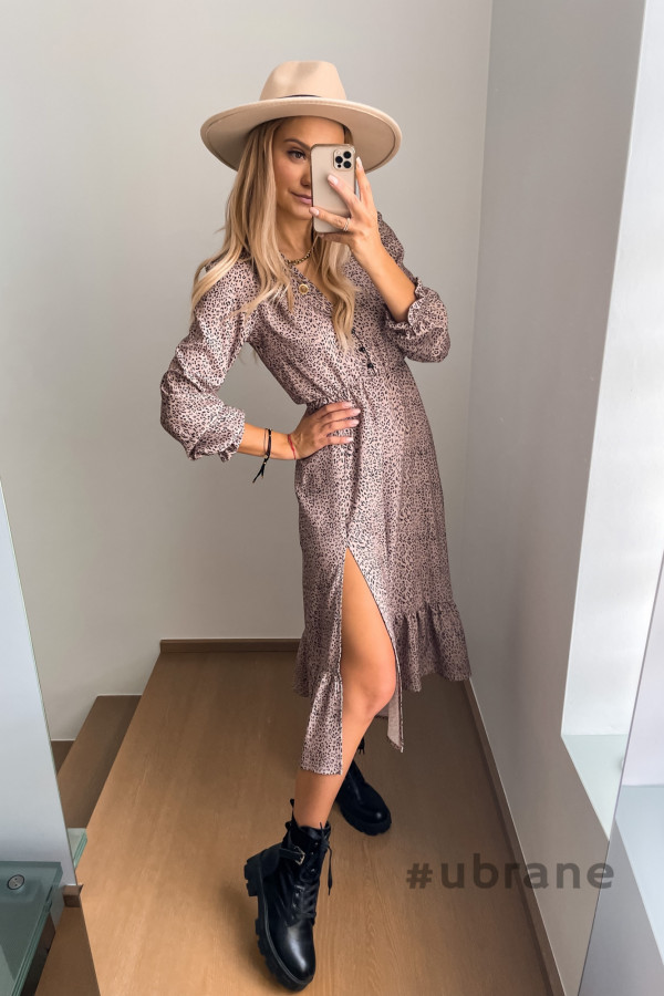 Sukienka Midi panterka