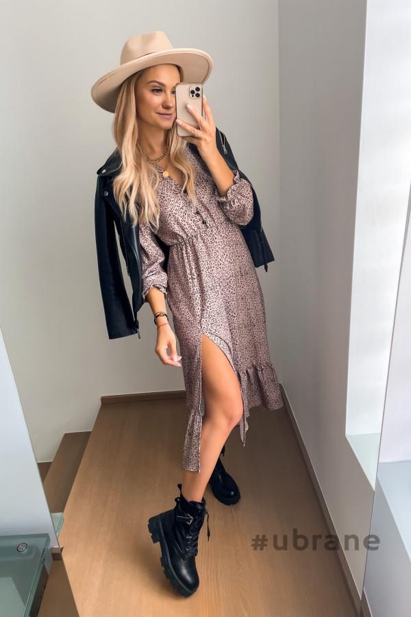 Sukienka Midi panterka 1