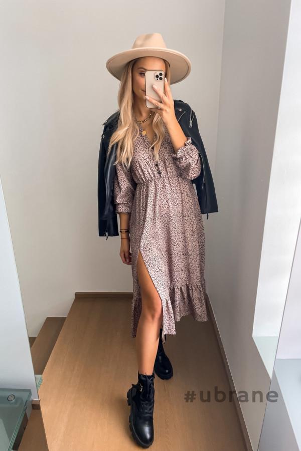 Sukienka Midi panterka 3
