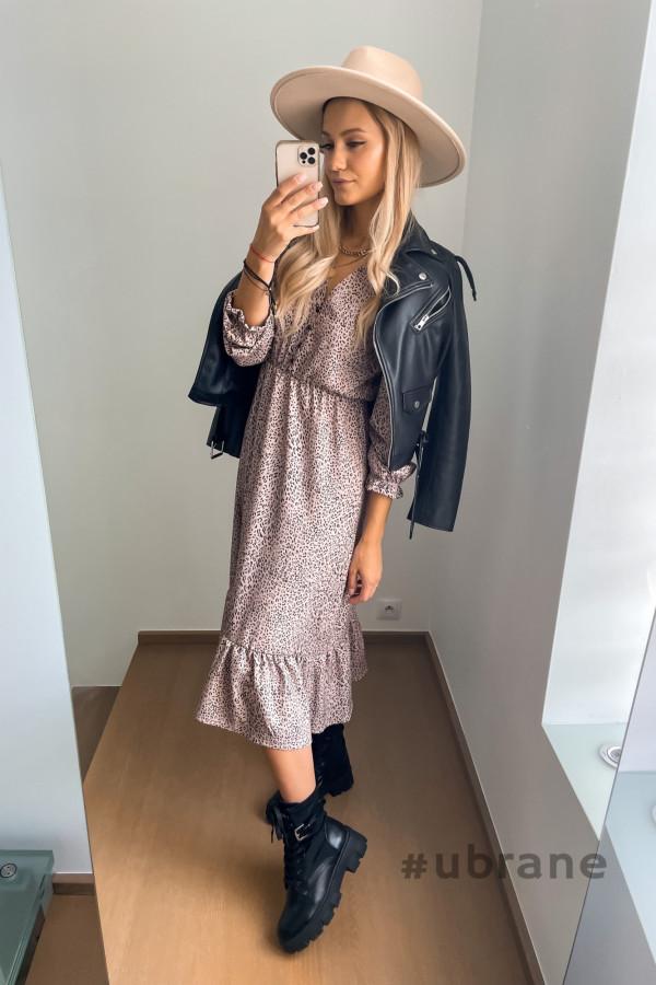 Sukienka Midi panterka 4