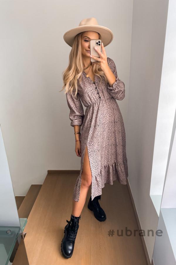 Sukienka Midi panterka 6