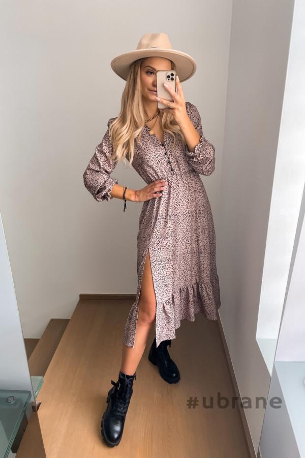 Sukienka Midi panterka 7