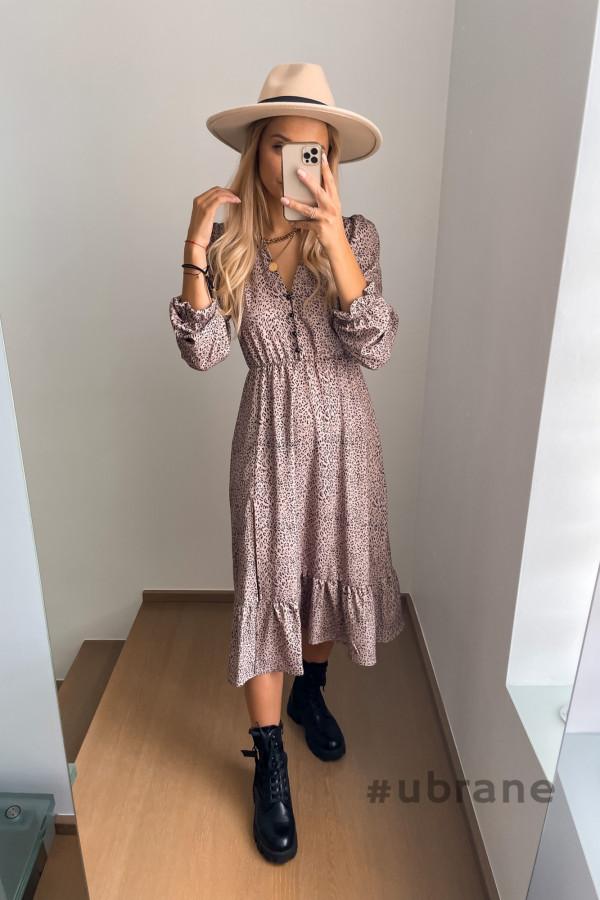 Sukienka Midi panterka 8