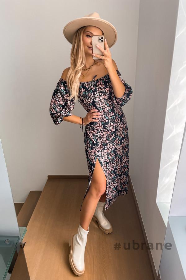 Sukienka Savanna Midi w kwiaty
