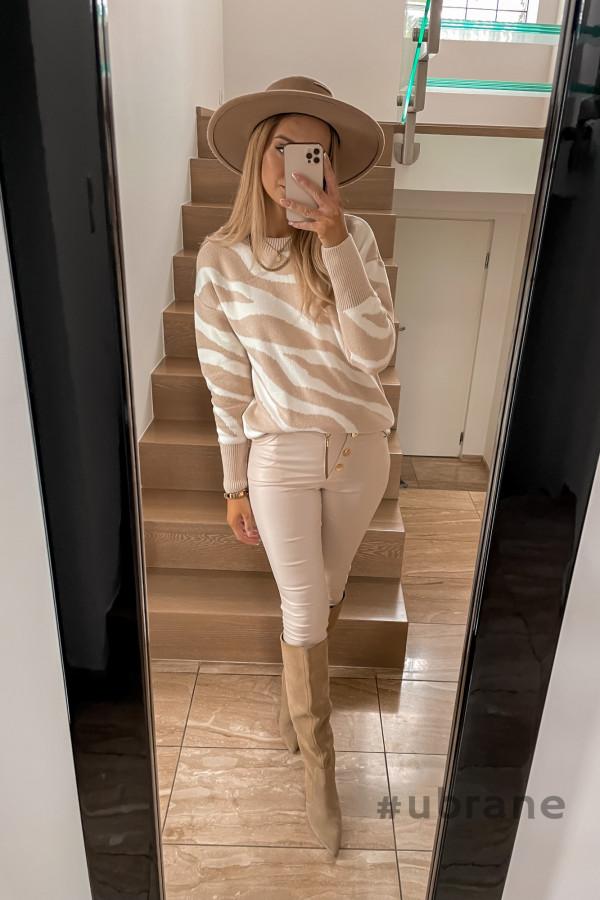 Sweter Premium Zebra beżowy 3