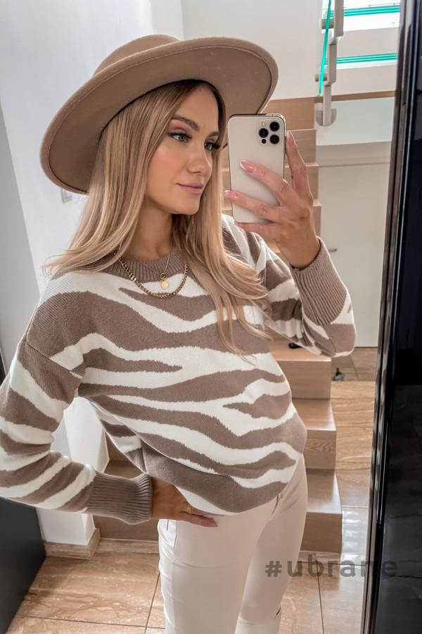 Sweter Premium Zebra mocca