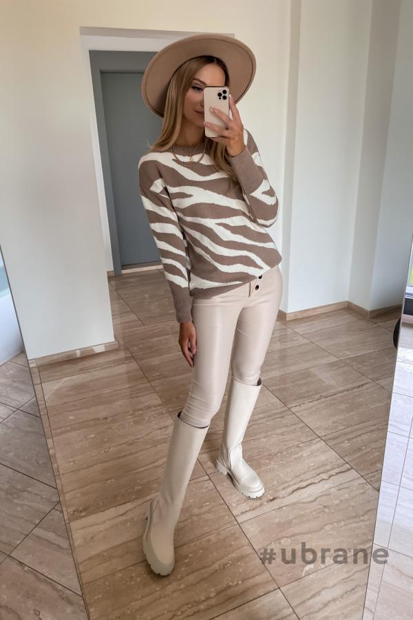 Sweter Premium Zebra mocca 1