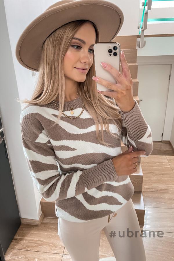 Sweter Premium Zebra mocca 2
