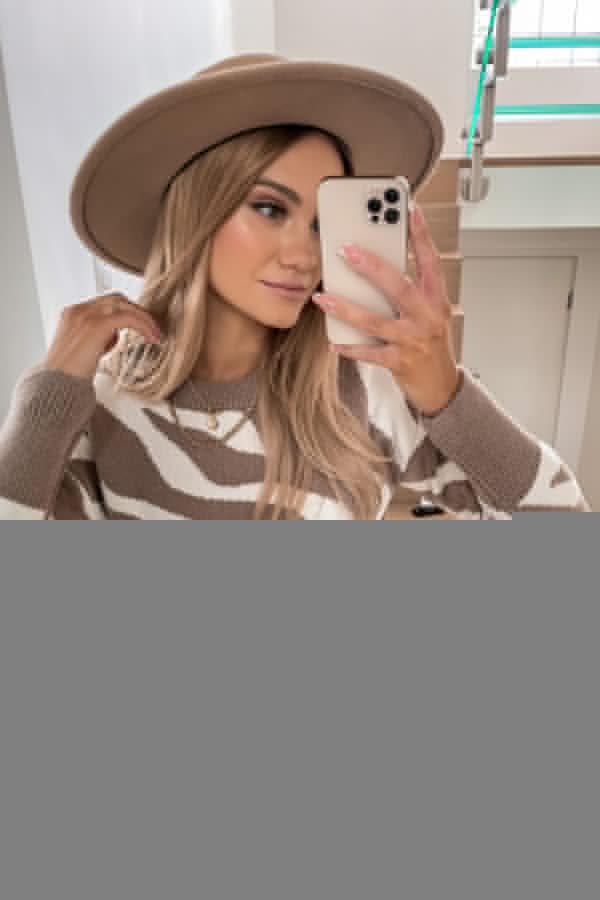 Sweter Premium Zebra mocca 6