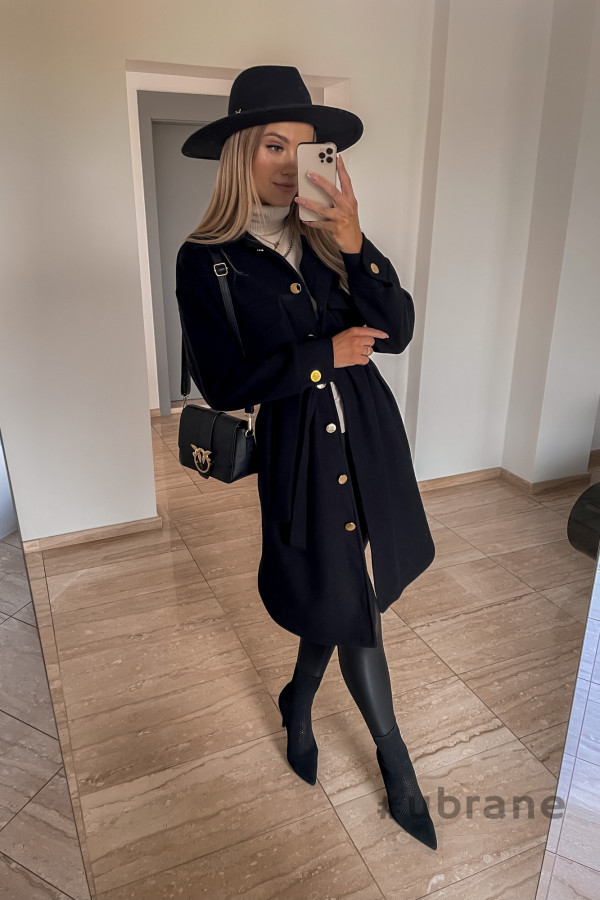 Płaszcz Marbella ze złotymi guzikami 2