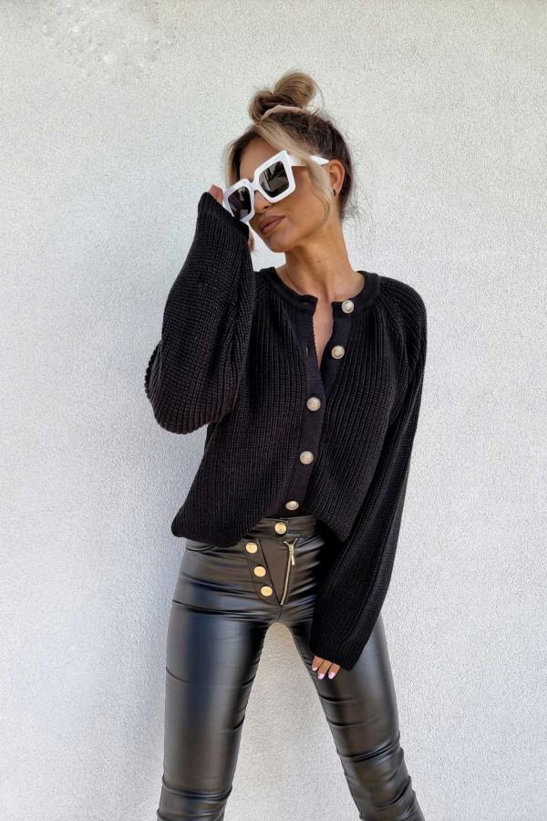Spodnie woskowane czarne 1