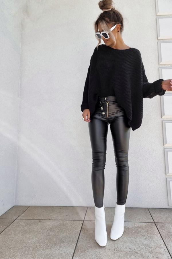 Spodnie woskowane czarne 3