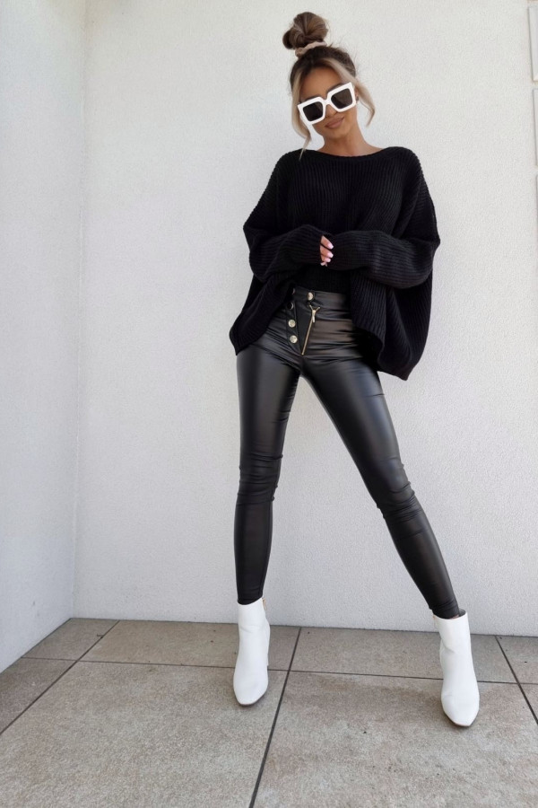 Spodnie woskowane czarne 4