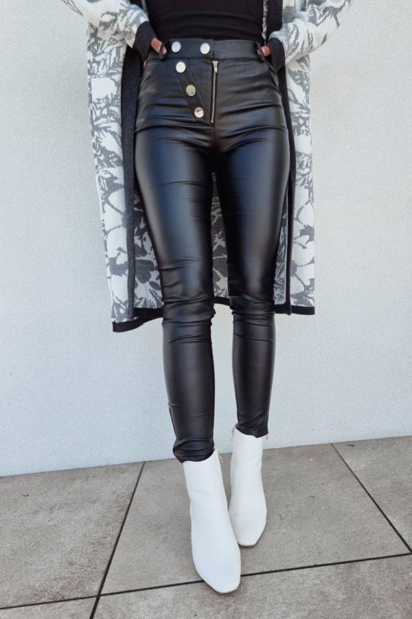Spodnie woskowane czarne 5